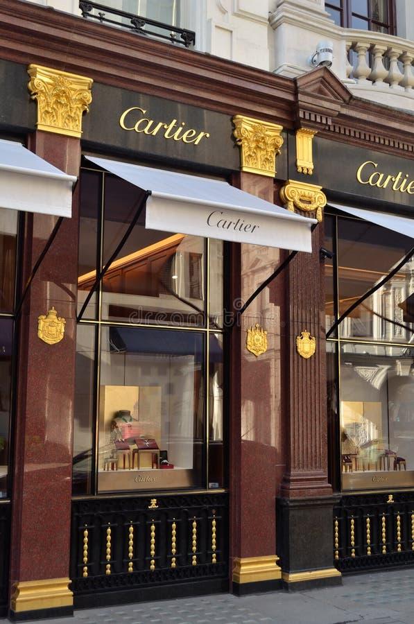 Cartier Londres foto de archivo libre de regalías