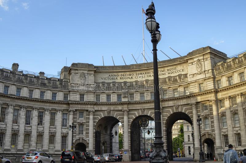 Londres, Reino Unido, em junho de 2018 Arco de Admiralty fotos de stock royalty free