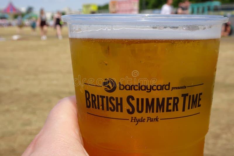 Londres, Reino Unido festival britânico do BST das horas de verão do 8 de julho de 2015 fotos de stock