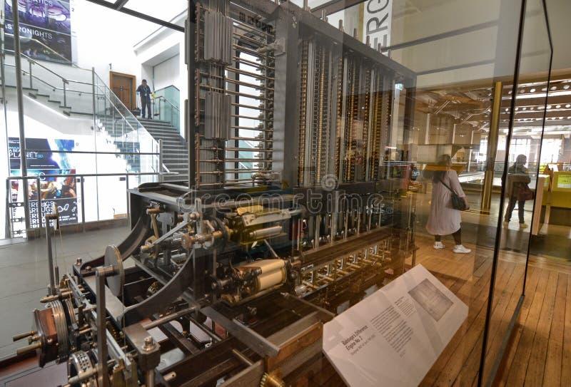 Londres, Reino Unido, junio de 2018 La máquina de Babbage imagen de archivo
