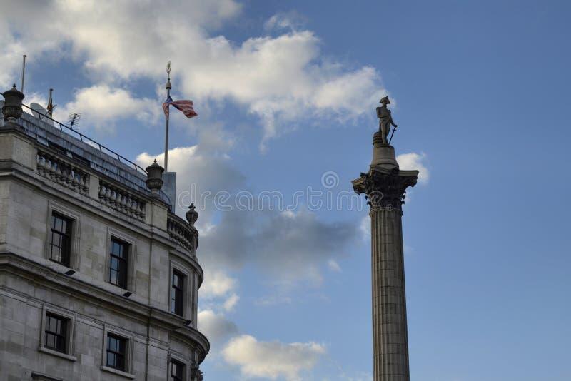 Londres, Reino Unido, o 14 de junho de 2018 Quadrado de Trafalgar imagem de stock