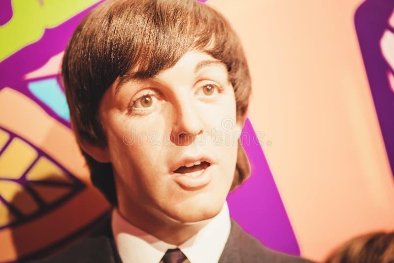 Londres, Royaume-Uni - 24 août 2017 : Le Beatles dans la Madame photographie stock