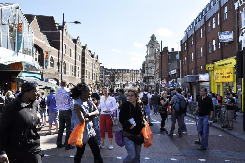 Londres se desenfrena las consecuencias, ensambladura de Clapham imagenes de archivo