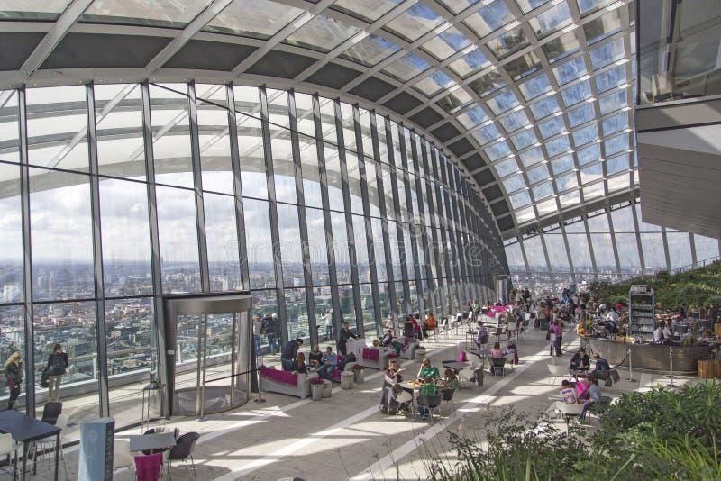 Londres - 27 septembre 2015 : Le Skygarden image libre de droits