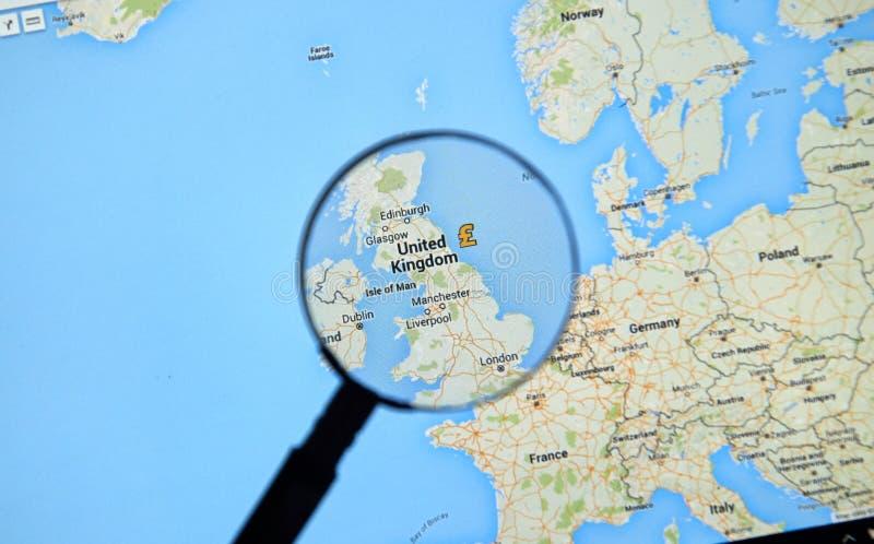 Londres sur Google Maps photo libre de droits