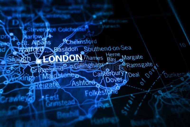 Londres sur la carte illustration de vecteur
