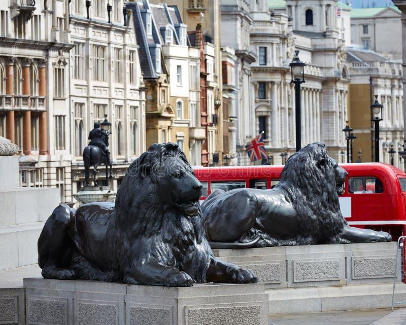 Londres Trafalgar Square en Reino Unido fotografía de archivo