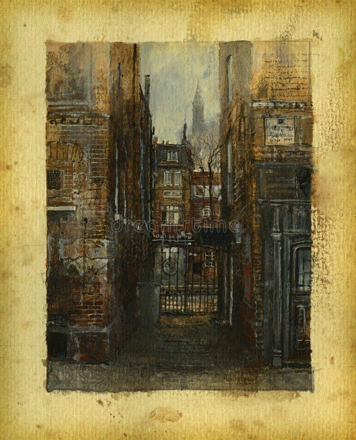 Londres velha ilustração royalty free