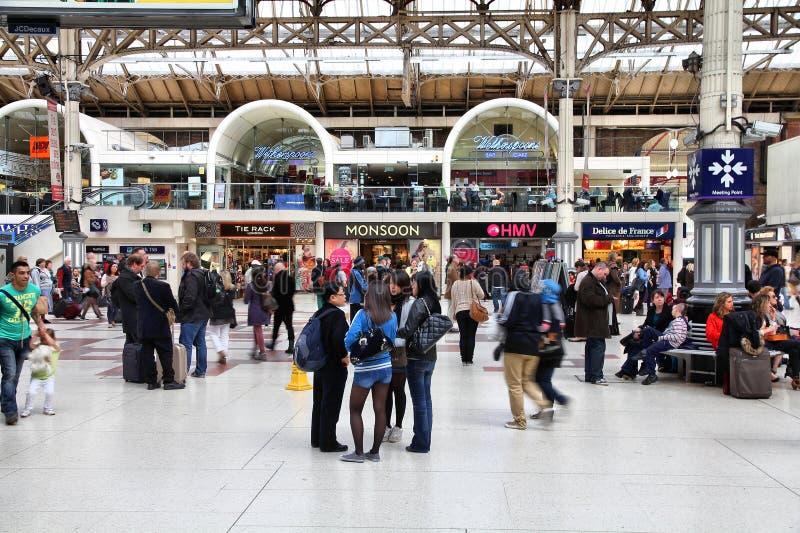 Londres Victoria Station photo libre de droits