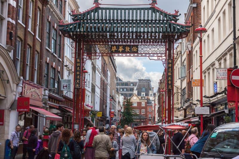 LONDRES, vista do bairro chinês foto de stock royalty free