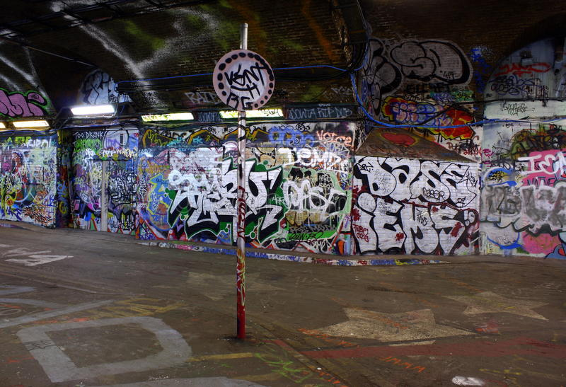 Londyńscy graffiti obrazy royalty free