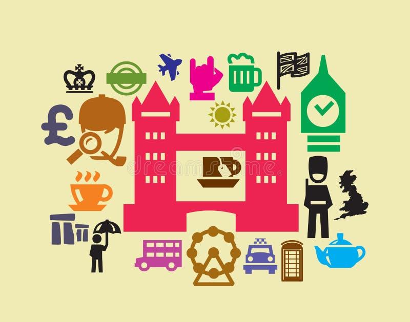 Londyńscy lcons ilustracji