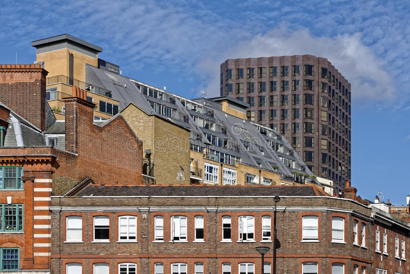 Londyńscy mieszkania i biura zdjęcia stock