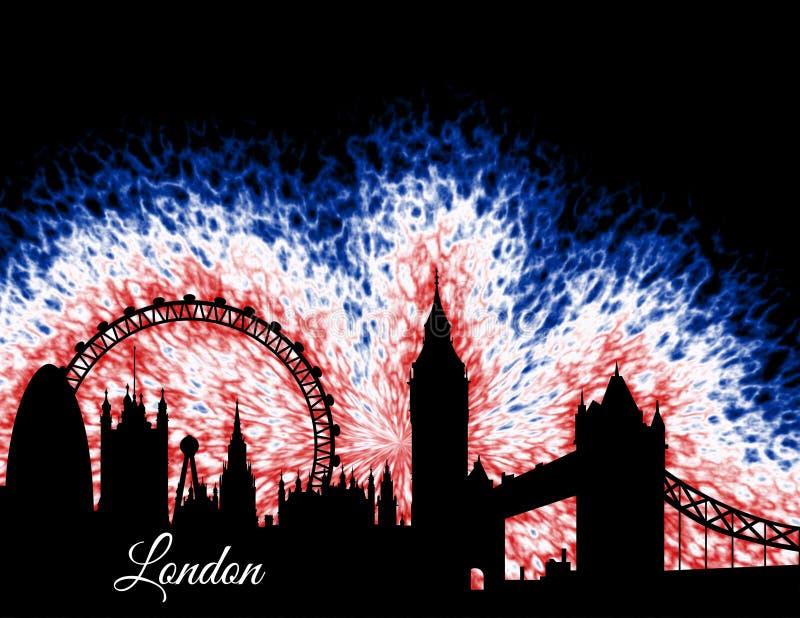 Londyńska Anglia sylwetka ilustracji