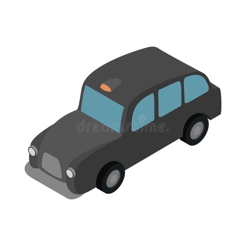 Londyńska czarna taksówki ikona, isometric 3d styl royalty ilustracja