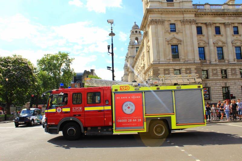 Londyńska jednostka straży pożarnej fotografia royalty free