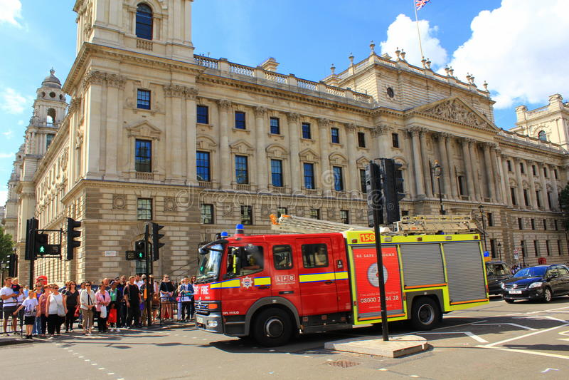 Londyńska jednostka straży pożarnej zdjęcia royalty free