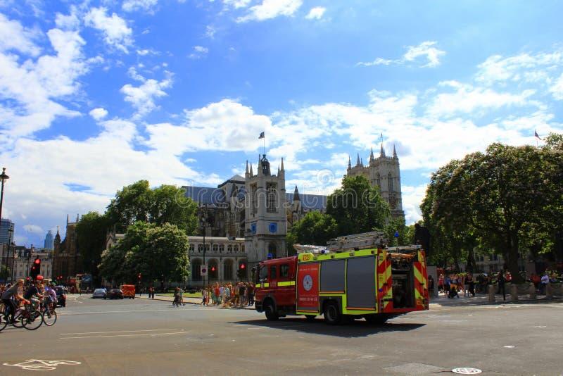 Londyńska jednostka straży pożarnej obraz royalty free