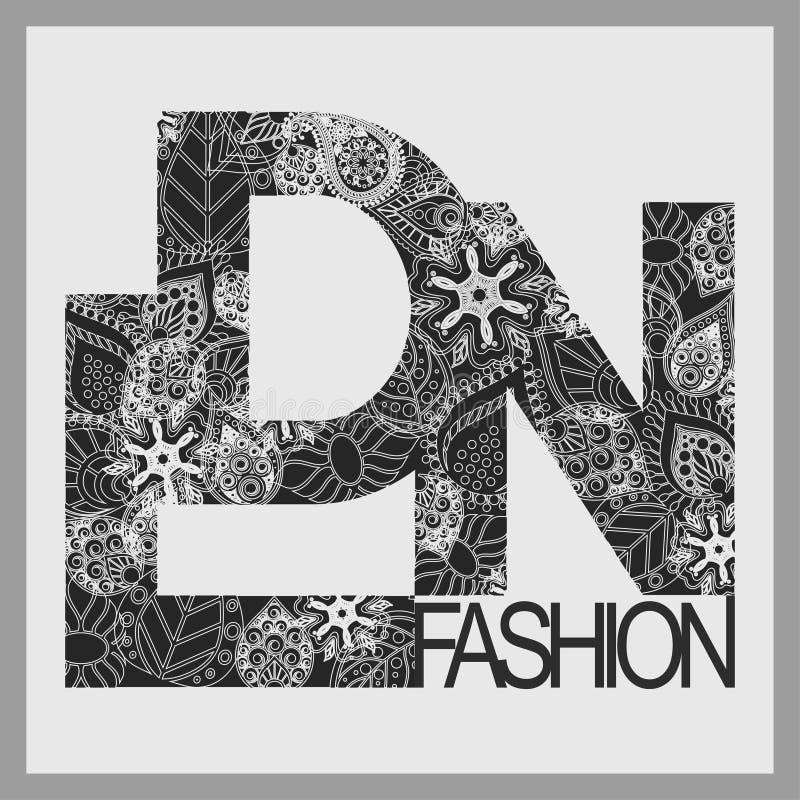 Londyńska koszulki mody typografia ilustracja wektor