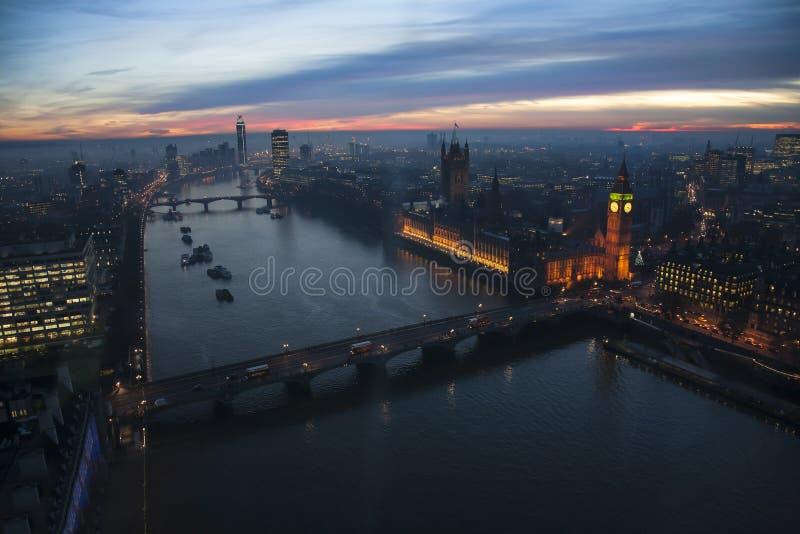 Londyńska linia horyzontu, zawiera big ben obrazy stock