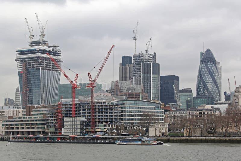 Londyńska miasto budowa zdjęcie royalty free