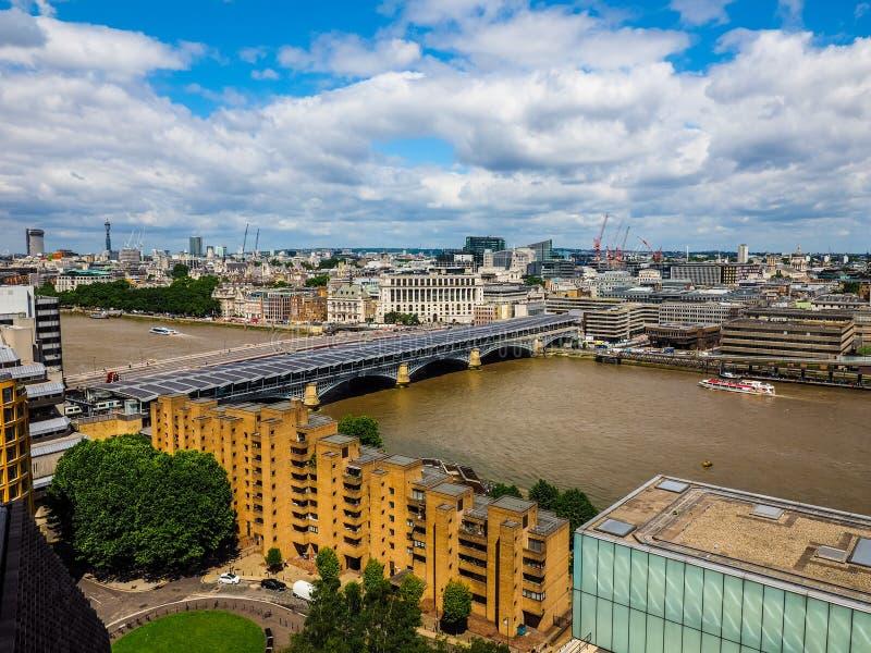 Londyńska miasto linia horyzontu, hdr zdjęcia royalty free