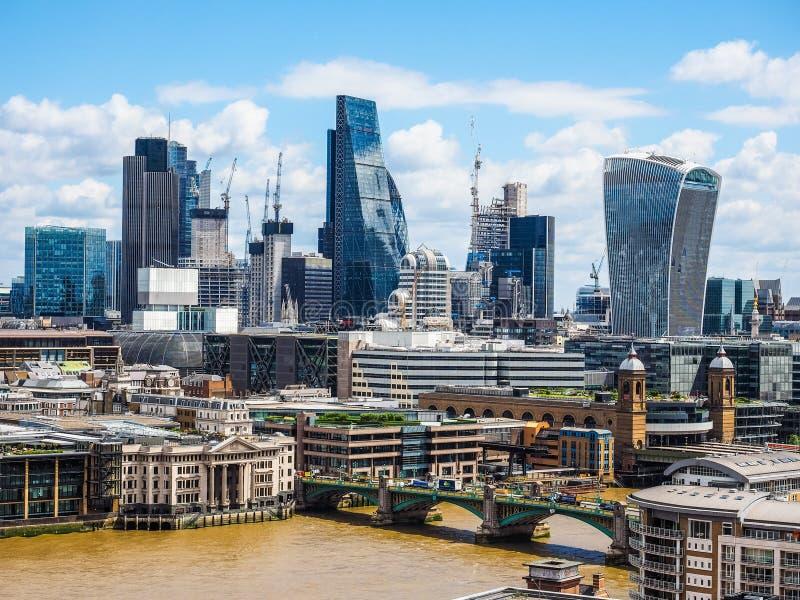 Londyńska miasto linia horyzontu (hdr) fotografia royalty free