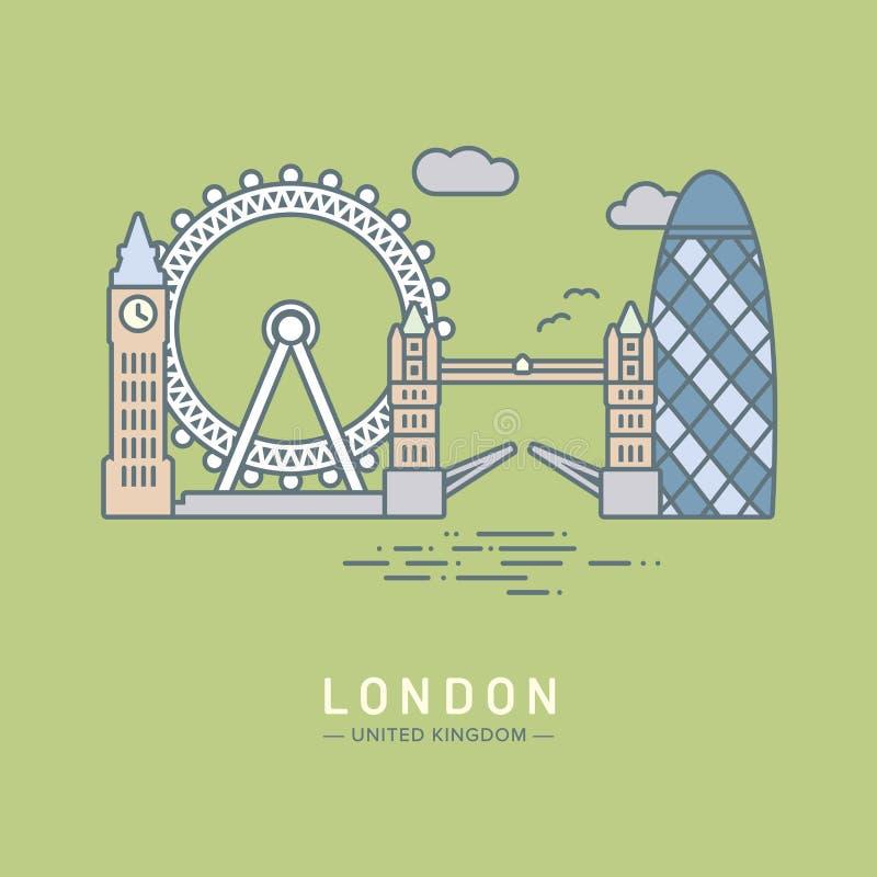 Londyńska miasto wektoru ilustracja ilustracji