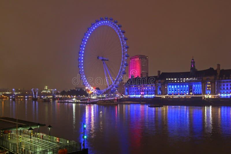 Londyńska oko noc zdjęcia royalty free