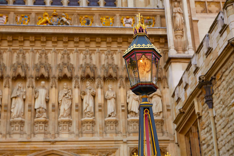 Londyńska opactwo abbey fasada fotografia royalty free