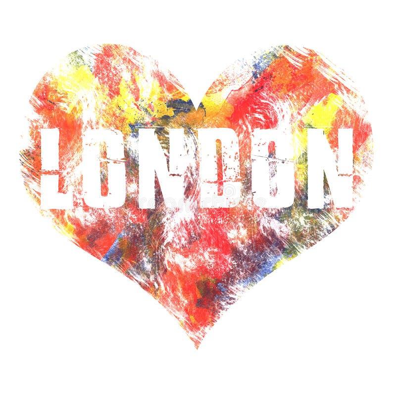 Londyńska sztuka Uliczny grafika styl Londyn Moda elegancki druk Szablon odzież, karta, etykietka, plakat emblemat, koszulka znac royalty ilustracja