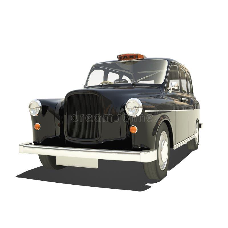 Londyńska taksówka Isoalted ilustracja wektor