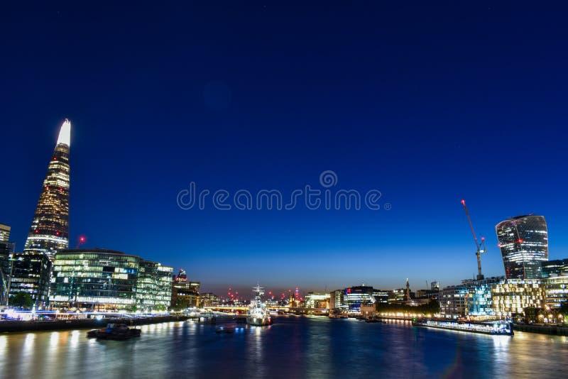 Londyński śródmieście 360 stopni bezprzestojowi widoki Londyn w całym mieście zdjęcia stock