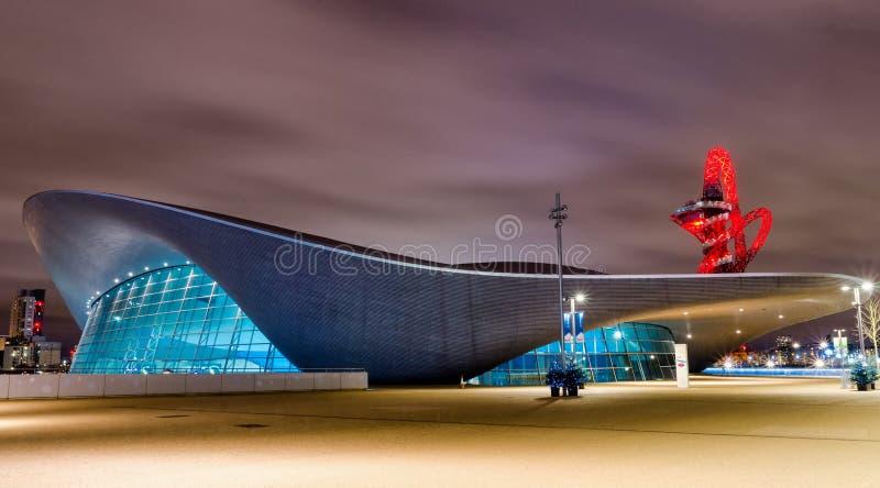 Londyński Aquatics Centre zdjęcie royalty free