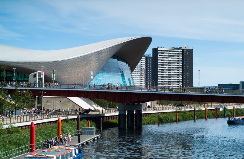Londyński Aquatics centrum zdjęcie stock
