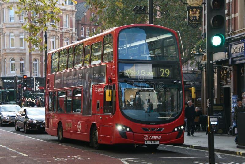 Londyński autobus 2018 obraz stock