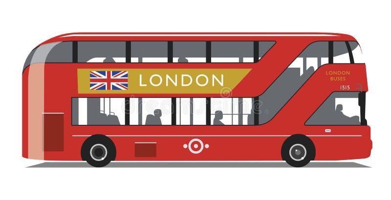 Londyński Autobusowy Nowy Routemaster typ ilustracja wektor