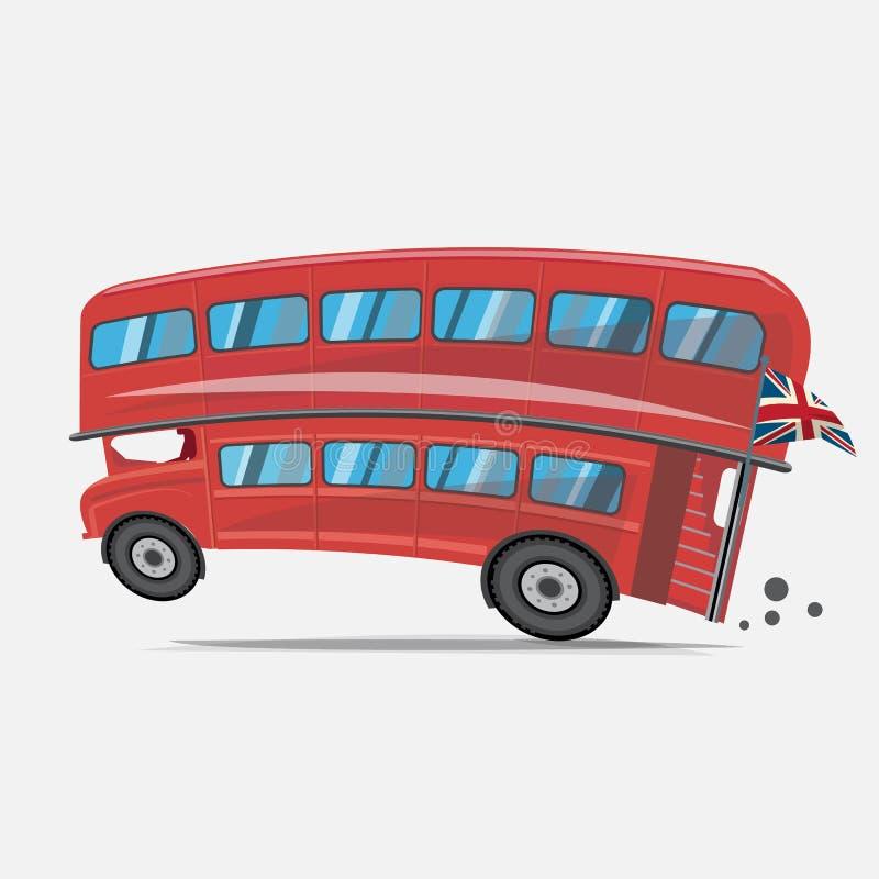 Londyński czerwony autobus Dwoistego decker autobus - ilustracja wektor