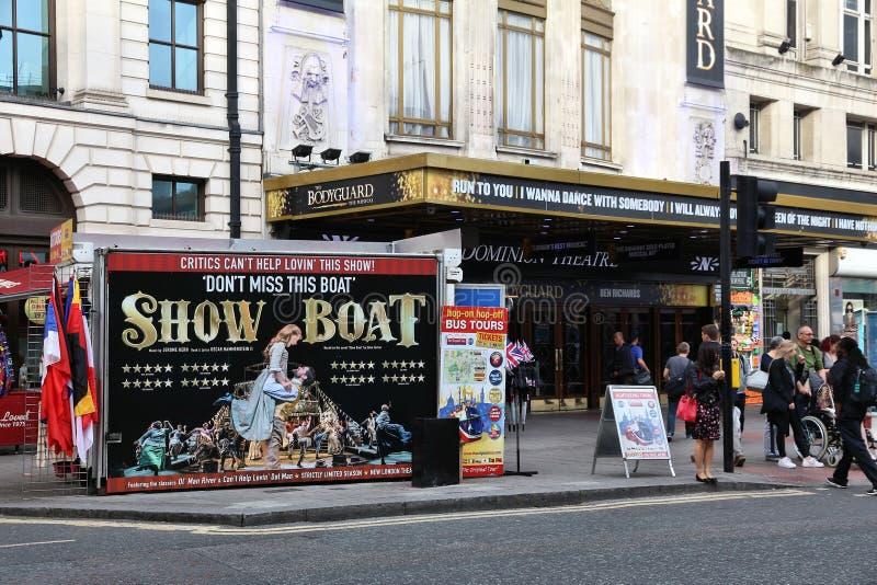 Londyński dominium Theatre zdjęcia royalty free