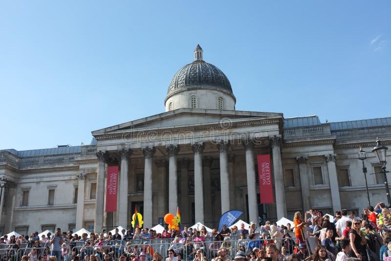 Londyński Homoseksualnej dumy national gallery 2013 zdjęcia stock