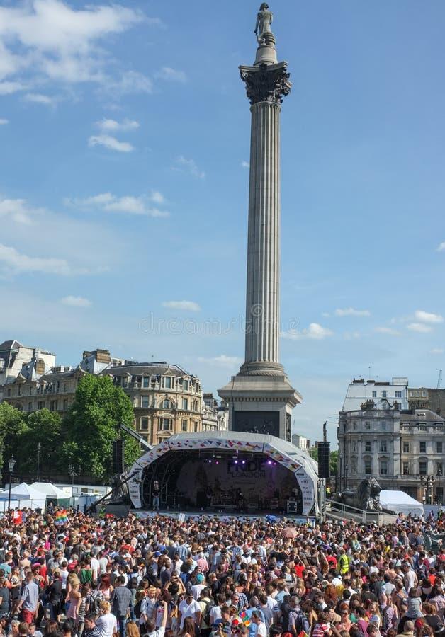 Londyński Homoseksualnej dumy Trafalgar kwadrat 2013 obrazy royalty free