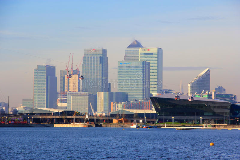 Londyński Kanarowy Nabrzeże zdjęcia royalty free