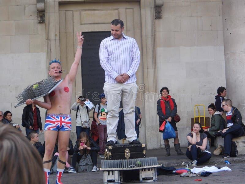 Londyński magik w ulicie obrazy stock