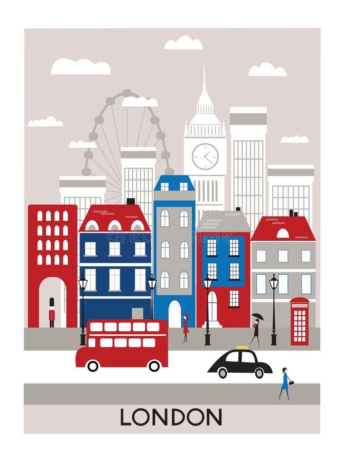 Londyński miasto. royalty ilustracja