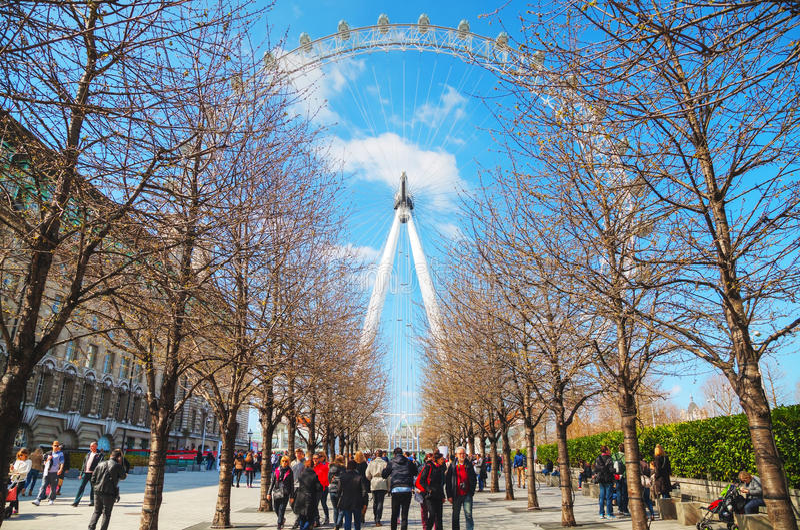 Londyński oka Ferris koło obraz stock