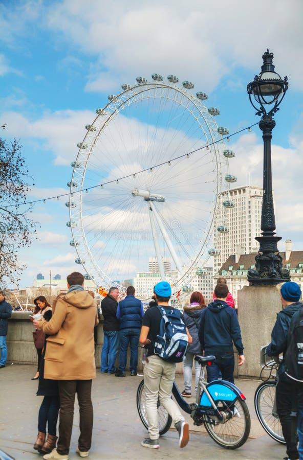 Londyński oka Ferris koło fotografia royalty free
