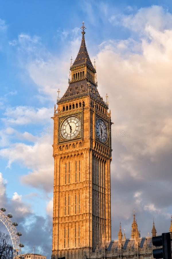 Londyński oko i Big Ben fotografia stock