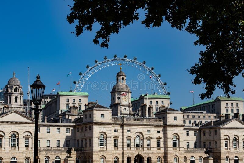 Londyński oko za gospodarstwo domowe kawalerii muzeum obrazy royalty free