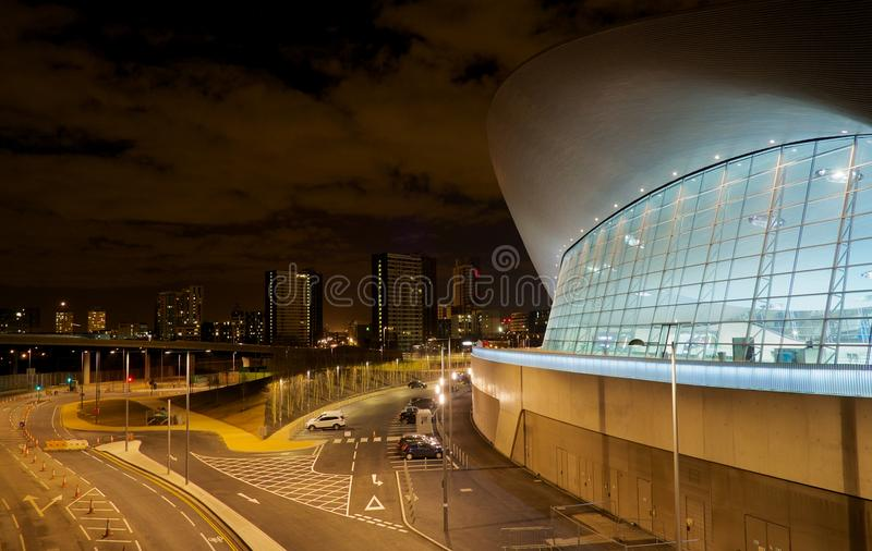 Londyński Olimpijski Pływacki basen fotografia royalty free