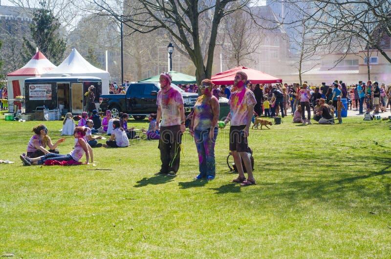 Londyński Ontario Kanada, Kwiecień, - 16: Niezidentyfikowany młody kolorowy p zdjęcia royalty free